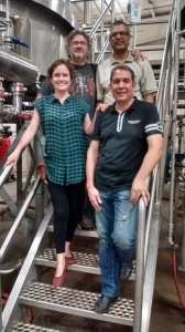 John Romano (Nickel Brook) and Kiran Pandey (OMAFRA) at the brewery